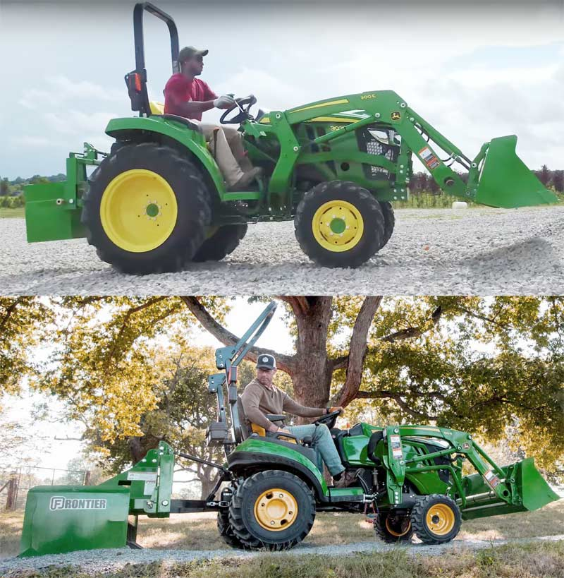 John Deere 1025r and 3025d tractors both have 25 hp
