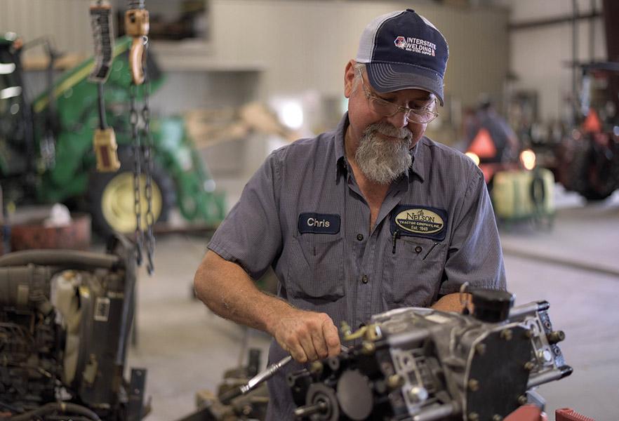Service Department - Technician working