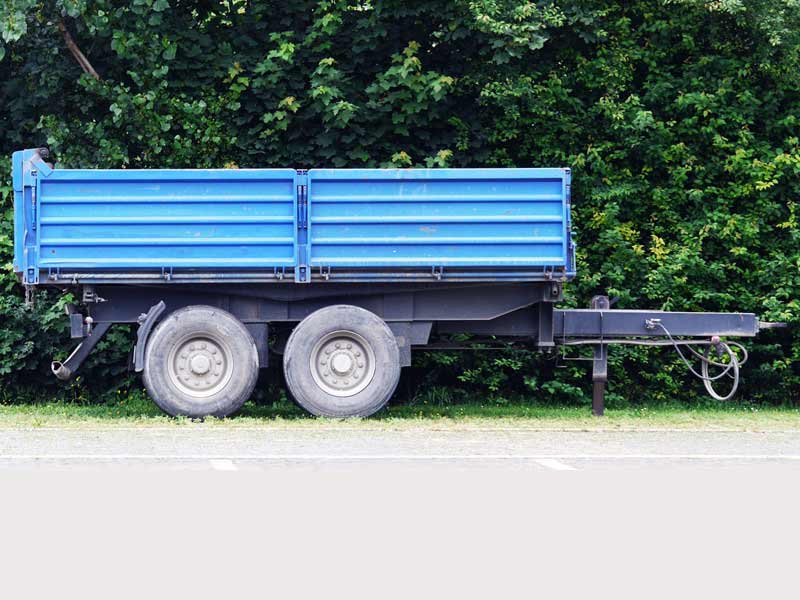 Blue Bumper Pull Trailer