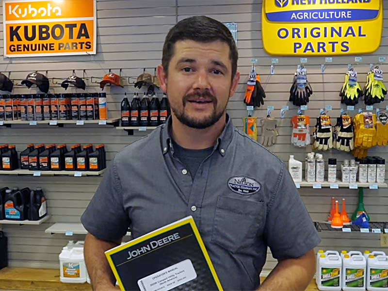Caleb Bragg is a mechanic and salesman at Nelson Tractor Company
