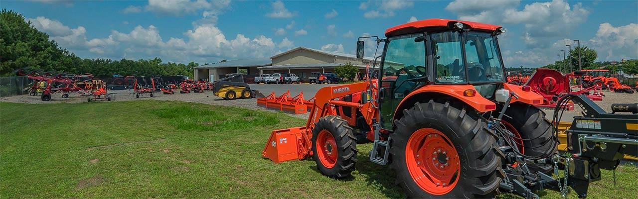 Nelson Tractor Dealership Outside Kubota Tractor