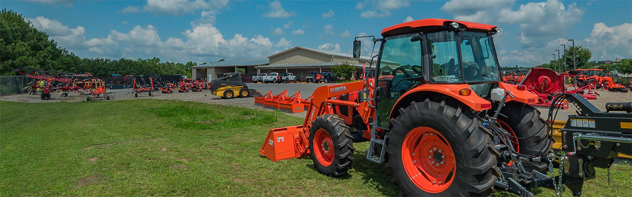 Nelson Tractor Dealership Outside Kubota Tractor