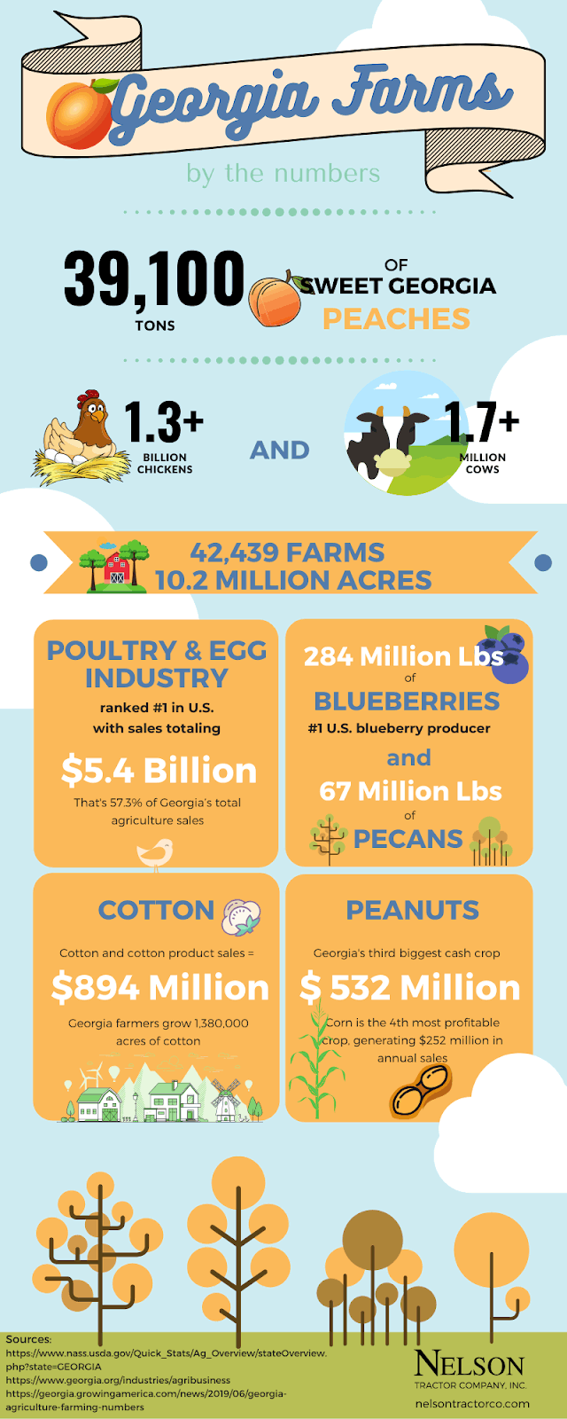 Georgia Farming Numbers Infographic