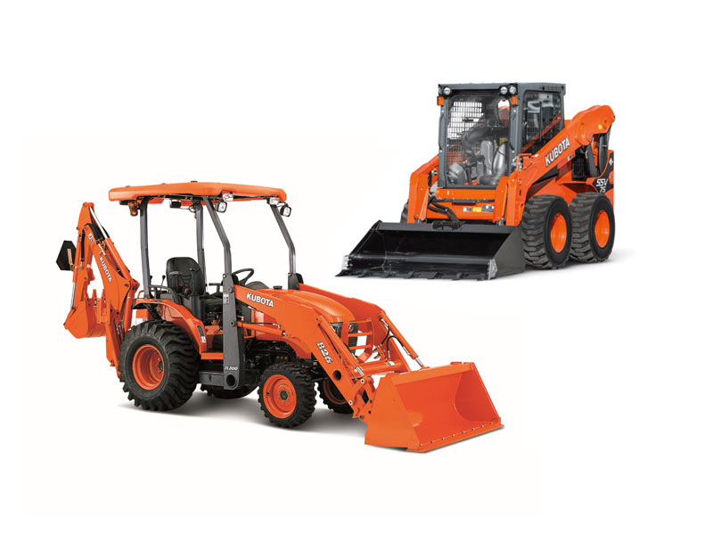 Kubota Skid Steer and Compact Tractor Loader Backhoe (credit kubotausa.com)