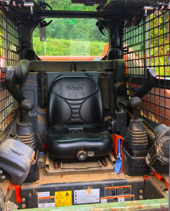 Inside of Kubota SSV 75 Skid Steer