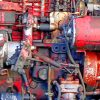 red tractor engine