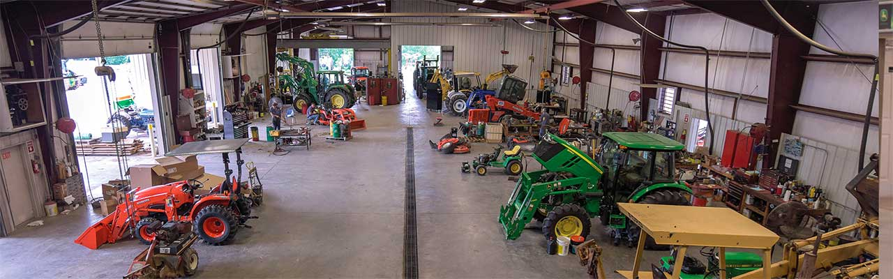 Inside of Nelson Tractor Service Dept, Blairsville GA