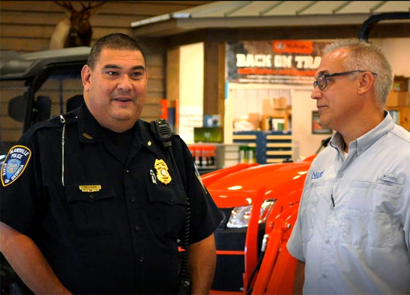 "Blairsville, GA Police Chief, Michael ""Bear"" Baxter and Will Nelson discuss ""Shop with a Cop"""