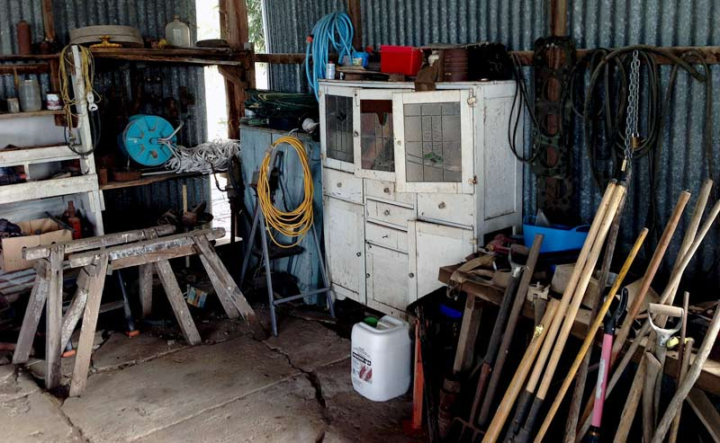 Lots of Tools, Sawhorses, in Shed
