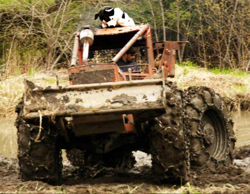 How to Free a Tractor Stuck in the Mud